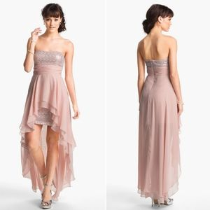 Hailey Logan Chiffon Overlay Sequin Dress Sz 4